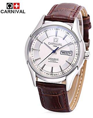 Carnival スイスブランド腕時計 自動機械式メンズ腕時計自動巻きウォッチ watch 高品質 30m防水 日付曜日表示