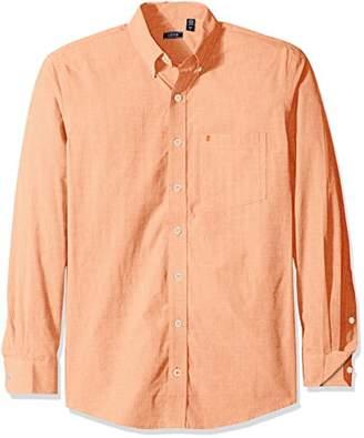 Izod Men's Premium Performance Natural Stretch Solid Long Sleeve Shirt (Big & Tall and Tall Slim)