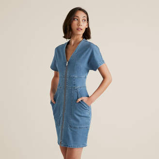 Seed Heritage Mini Zip Through Dress