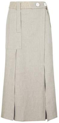 CHRISTOPHER ESBER Stone Linen Wrap Skirt