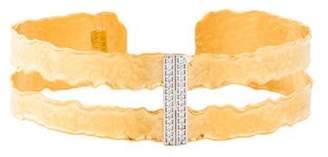 Reiss I. 14K Diamond Narrow Cut-Out Cuff