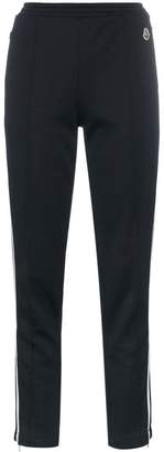 Moncler logo detail and side stripe track pants