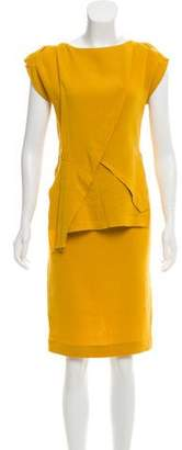 Roland Mouret Draped Wool Dress