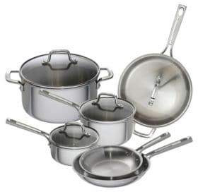 Emeril 10-Piece Stainless Steel Cookware Set - Induction Ready