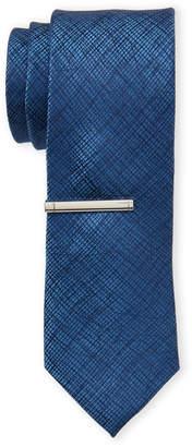 Calvin Klein Navy Intersecting Lines Silk Tie
