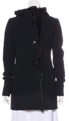 Prada Sport Fur-Trimmed Structured Jacket