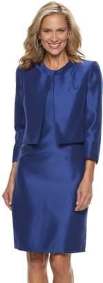 Le Suit Women's Shiny Jacket & Dress Set