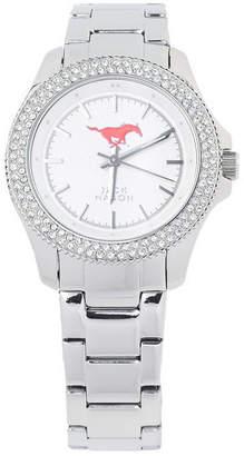 Jack Mason Women Southern Methodist Mustangs Glitz Sport Bracelet Watch
