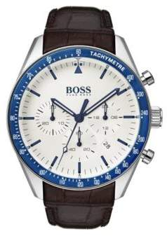 BOSS Hugo Leather-strap watch blue bezel One Size Assorted-Pre-Pack