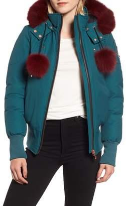 Moose Knuckles Yorkdale Genuine Fox Fur Trim Down Jacket