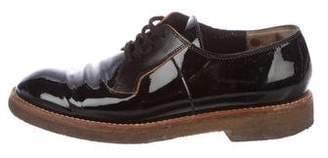 Marni Patent Leather Round-Toe Oxfords