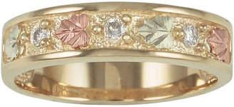 LANDSTROM'S BLACK HILLS GOLD Mens Black Hills Gold Diamond-Accent Wedding Ring