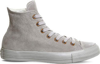 Converse All star hi suede trainers $69 thestylecure.com