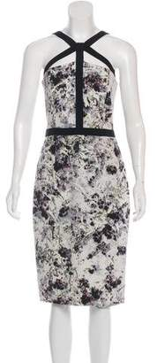 Cushnie et Ochs Silk Floral Dress