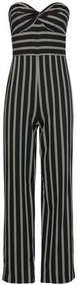 Veronica Beard Cypress Striped Cropped Jumpsuit