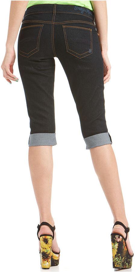 Indigo Rein Juniors Shorts, Skinny-Leg Denim Cuffed, Dark Wash