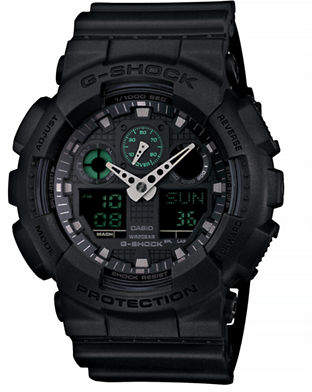 Casio Military Black Analogue and Digital Combo Watch