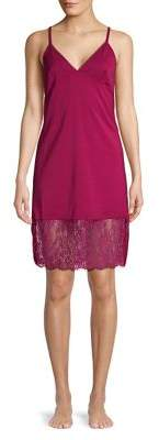 French Connection Chiffon and Lace Chemise