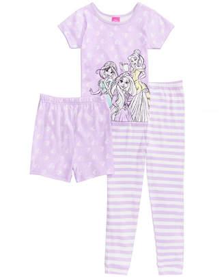 Disney (ディズニー) - Disney's Princesses 3-Pc. Cotton Pajama Set, Toddler Girls, Created for Macy's