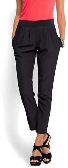 Relaxed-fit zip closure trousers