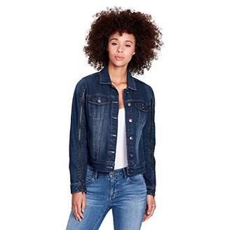 Skinnygirl Women's The Real Deal Denim Jacket with Zipper Details