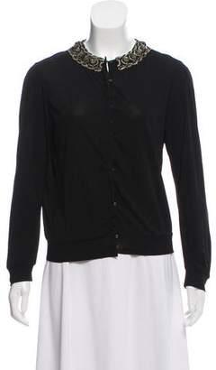 Rozae Nichols Embellished Long Sleeve Top