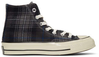 Converse Black Plaid Chuck 70 High Sneakers