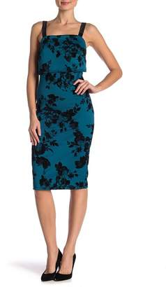 Vanity Room Front Popover Velvet Trim Dress