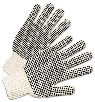 ANCHOR Brand Regular-Weight PVC-Dot String-Knit Gloves, Men's -ANR6710