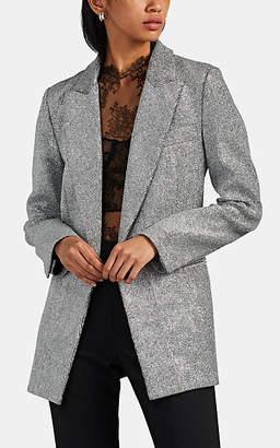 Maison di Prima Women's Glitter Double-Breasted Blazer - Silver