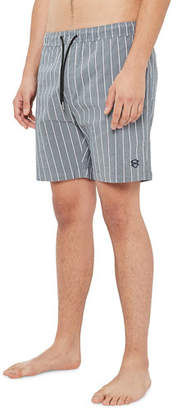 Zanerobe Men's Laguna Pinstriped Chambray Shorts