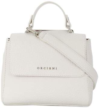 Orciani small boxy logo shoulder bag