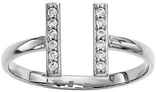 Dainty Designs 14K 1/10 cttw Diamond Double Bar