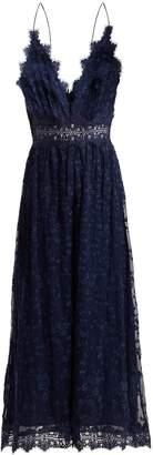 Zimmermann Castile Antique lace-trimmed silk jumpsuit