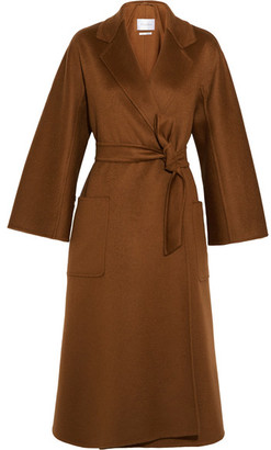 Labro Oversized Cashmere Coat - Brown