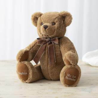My 1st Years Personalised Traditional 'Birthday' Brown Bear