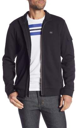 Calvin Klein Ribbed Long Sleeve Zip Up Jacket