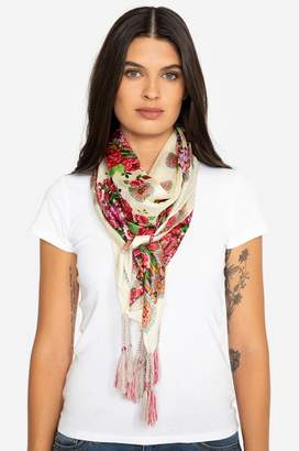 Johnny Was Rose Lace Scarf