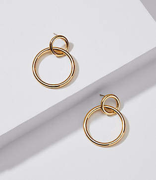 LOFT Linked Loop Earrings