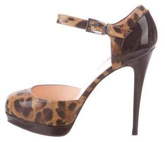 Christian Louboutin Patent Leather Buckle Strap Pumps