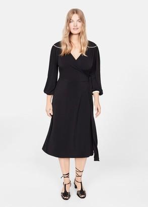 MANGO Violeta BY Retro style dress black - 10 - Plus sizes