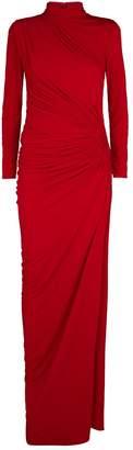Jovani Ruched Side-Split Gown