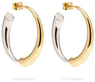 Charlotte Chesnais Gia Vermeil & Silver Hoop Earrings - Womens - Gold