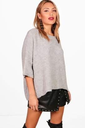 boohoo Eve Oversized Boucle Box Knitted Jumper