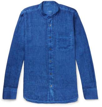 120% Grandad-Collar Slub Linen Shirt