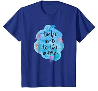 Take Me To The Ocean Sea Life Dolphin Seahorse T-Shirt
