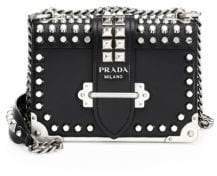 Prada Studded Cahier Leather Crossbody Bag