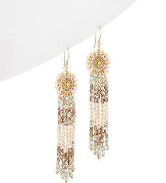 Miguel Ases 18K Rose Gold Topaz & Crystal Drop Earrings