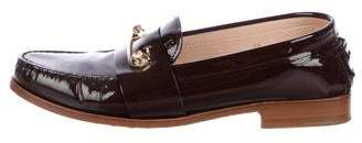 Tod's Round-Toe Patent Leather Loafers