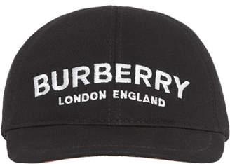 Burberry Kids' Logo Embroidered Baseball Cap